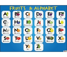 Fruits & Alphabet Afişi (Posteri)